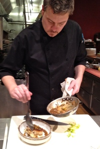 Sitting at the counter at Sazerac gives you a view of Chef Jason McClure's talents. Photo by Christine Willmsen