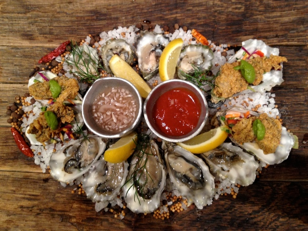 Try Sazerac's freshly-shucked and fried oysters for happy hour. Photo by Christine Willmsen