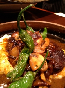 Try the pork cheeks with mushrooms and peppers for a main entree at Sazerac. Photo by Christine Willmsen