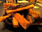 One appetizer included eggplant fries with sea salt and honey.