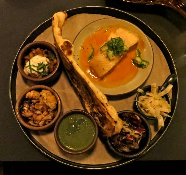 The black cod with carrot sauce and cucumber shiso salad came with six other small bowls of food. My favoraties were the lentil salad and the nettle soup. Photo by Christine Willmsen