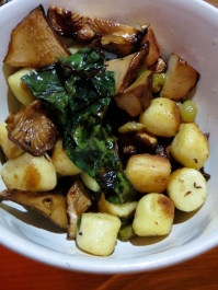 Gnocchi, chard and white chanterelles, photo by Christine Willmsen