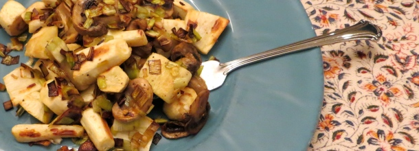 This quick recipe combines Parsnips, leeks and mushrooms for a great dinner. Photo by Christine Willmsen