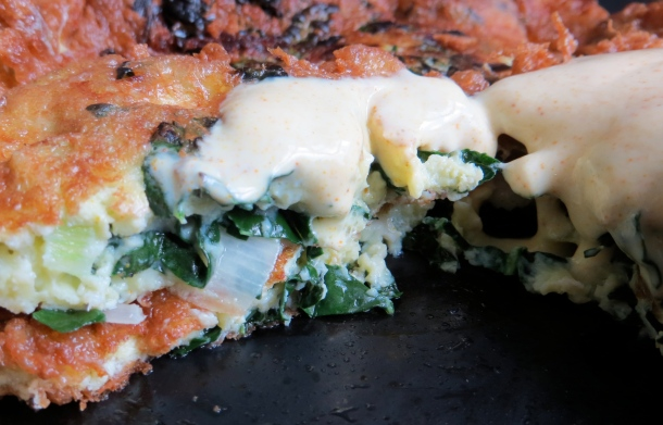 Kale and leek pancakes make a perfect lunch or dinner. Photo by Christine Willmsen
