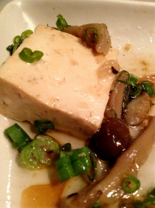 Cold-smoked tofu with Asian mushrooms is a star on the menu. Photo by Christine Willmsen