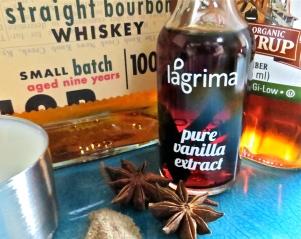 Ingredients include bourbon and Lagrima vanilla.