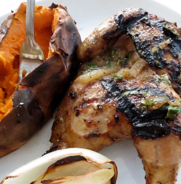 Challenge yourself by grilling Cornish game hen. You'll discover just how easy it is to cook. Photo by Christine Willmsen