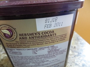 Cocoa for baking had expired four years ago. Photo by Christine Willmsen