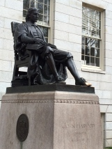I'll be walking by this statue of John Harvard every day.